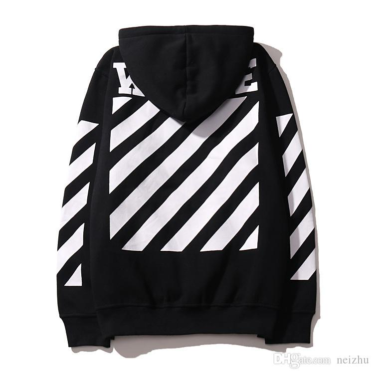 2018 2017 Off White Men Hoodie Sweatshirt Brand Clothes Stripes ...