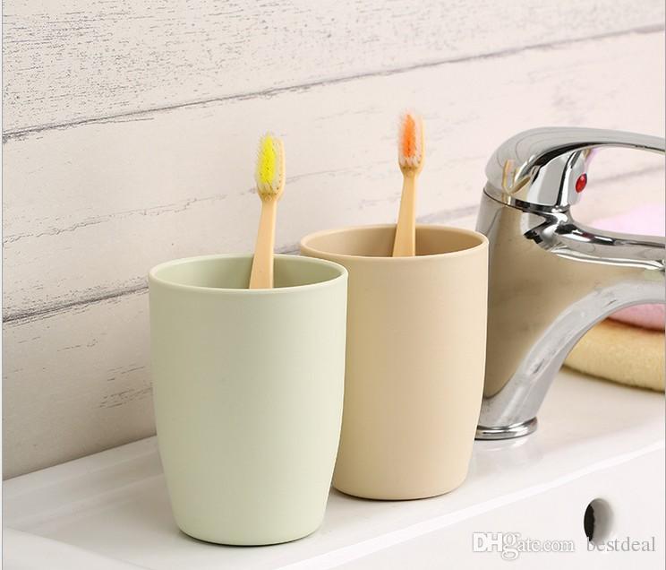 4 cores Copo Amante De Plástico Canecas 201-300 ml Simples moda gargarejo terno escova de plástico meus dentes copo amantes nova escova de lavagem lavar lavagem gargarejo água