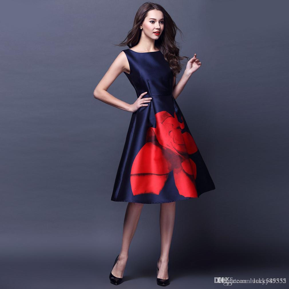Red Knee Fit Dress