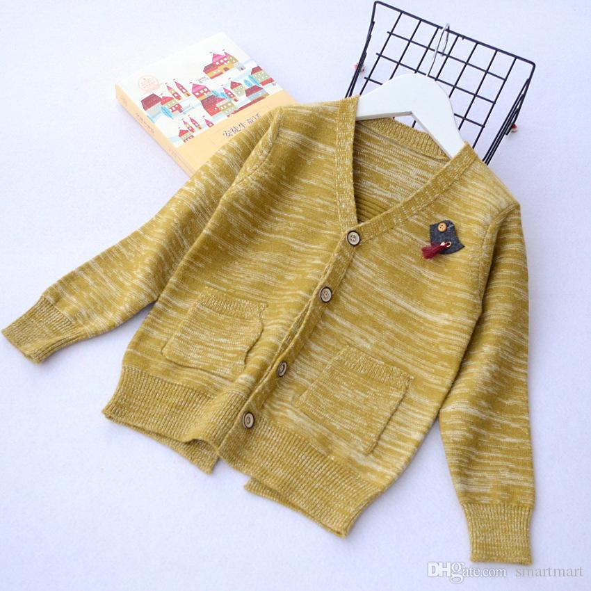 34859a5ad984 2018 Everweekend Boys Knitted Tassel Sweater Cardigan Candy Color ...