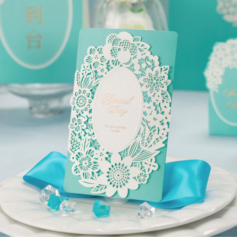 Wholesale Tiffany Blue Wedding Decorations China Laser Cut Luxurious