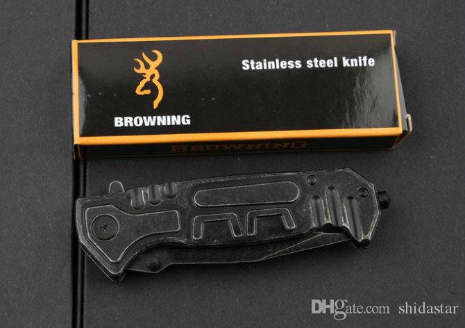 Browning B50 Stonewashed Tactical Folding Knives Hunting Survival Pocket Knife Military Utility EDC Tool Original Box Gift Knife Collection