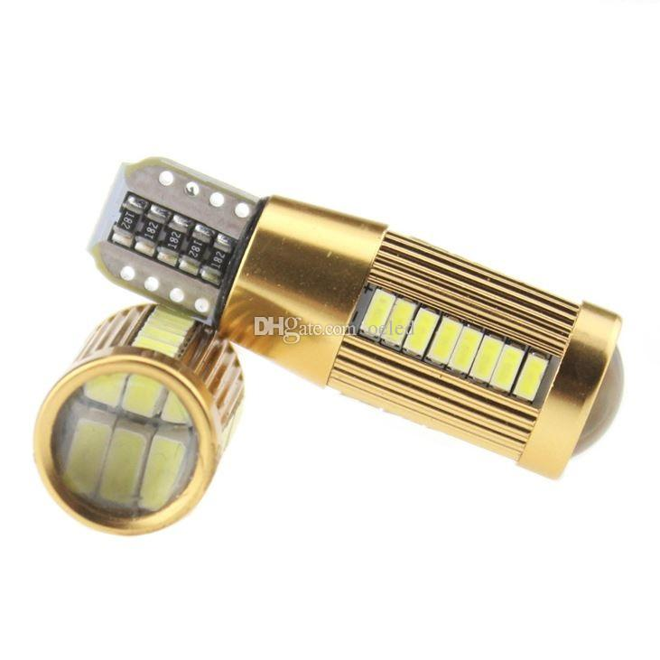 T10 w5w led 194 3014 Chip 38 SMD White Car Light T10 Canbus Led Bulb Clearance Lights Driving Lamp Tail Lamp Marker Lamp DC 12v