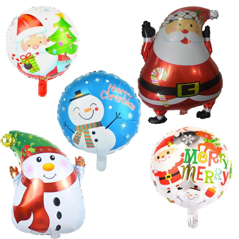 Home & Garden 18inch Merry Christmas Decoration Balloons Happy Year Kids Gift Toy Christmas Tree Snow Man Diy Party Ball Santa Claus Candy High Quality And Inexpensive Event & Party