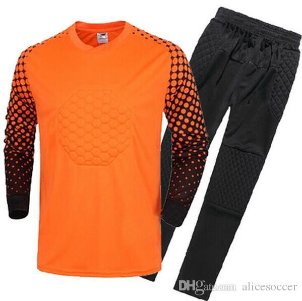 Maglia Calcio junior portiere manica lunga portiere Personalizza il numero nome uniformi di calcio di alta qualità Divisa pantaloni ragazzo gk
