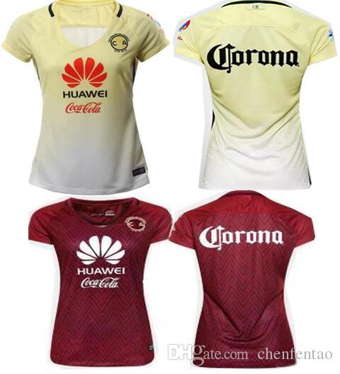 2019 Mexico Club America Women Soccer Jerseys Best Quality 2016 2017 Mexico  Club America Yellow Red Woman Lady R.SAMBUEZA Soccer Football Jersey From  ... 2bd3dcf738