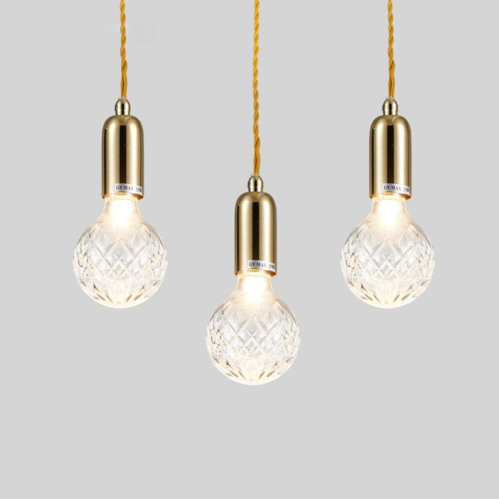 pendant lighting fixture. Modern Golden Glass Crystal Bulb Dining Room Pendant Lights Balcony Corridor Lamp Restaurant Porch Hanging Lighting Fixtures Light Fixture A