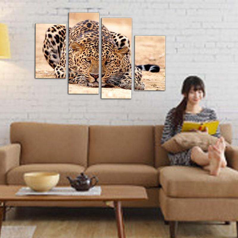 Impression Animal Oil Painting Beautiful Animal Canvas Print Art Home Decor of Forest King Tiger Paintings