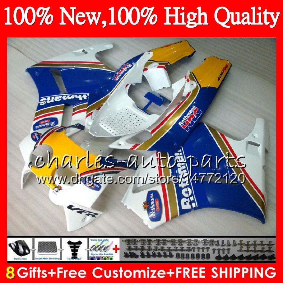 Honda vfr400rr 89 90 91 92 93 NC30 Rothmans Blue Bodywork HM.3 VFR400R VFR 400RR 400 VFR400 RR 1989 1990 1991 92 1993 페어링 키트