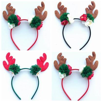 Girls Boutique Christmas Hair Bands Reindeer Headband Baby Artificial  Flowers Headbands Deer Hair Accessories Chiffon Flower Hairbands Party Cute  Hair ... 6bed7253509