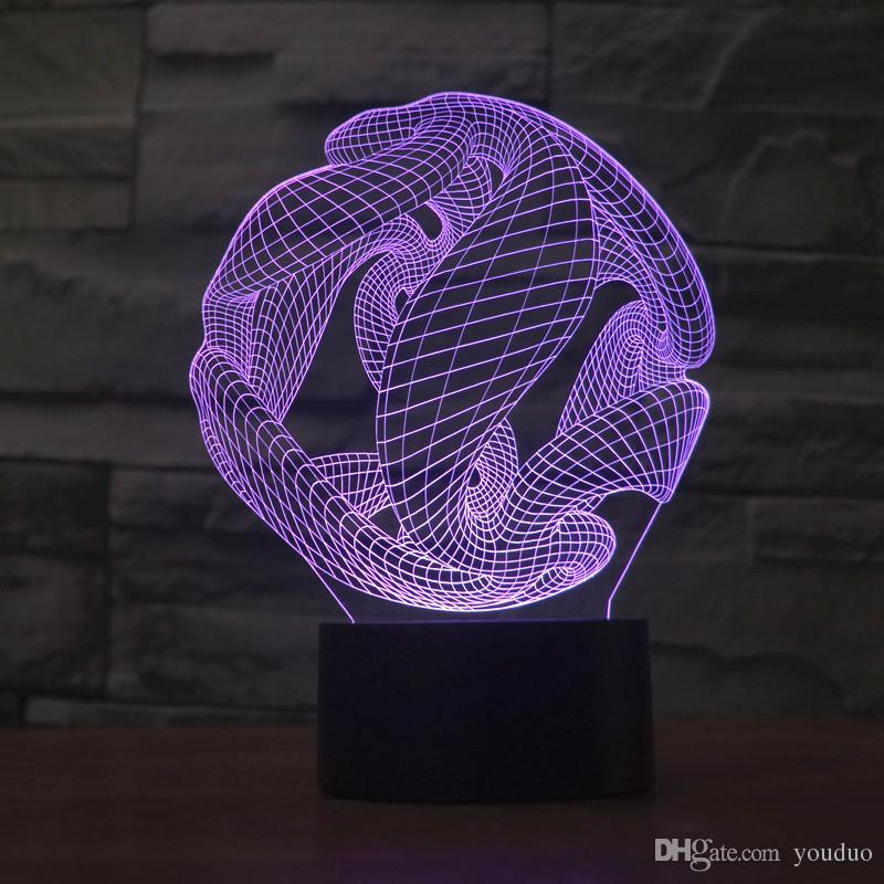 3d Luz Lámpara Abstracta Ilusión Noche La Para Compre Gráfica Led De ImfY6b7gyv