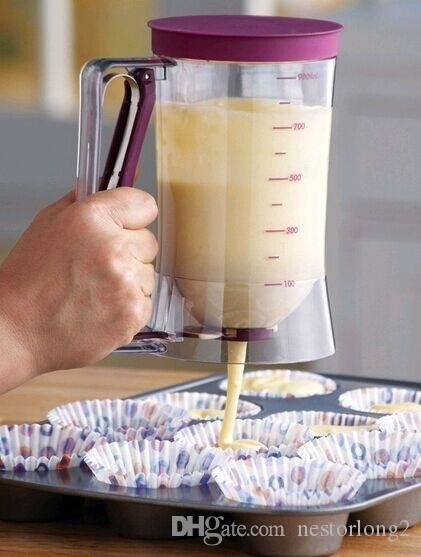 2016 Yeni Pişirme Essentials Kek Meyilli Krem Dağıtıcı Hamur Cupcake Hamur Dağıtıcılar mutfak yemek çubuğu pişirme araçları