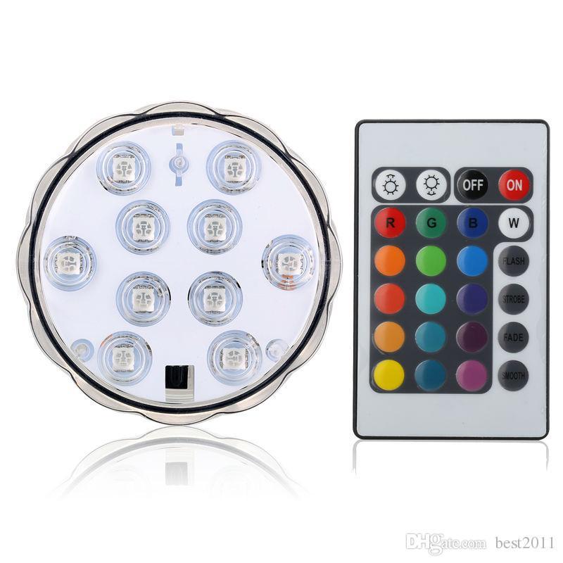 이 스타일 LED 멀티 컬러 수중 방수 웨딩 파티 장식 꽃 화병 자료 라이트 + 원격 무료 배송