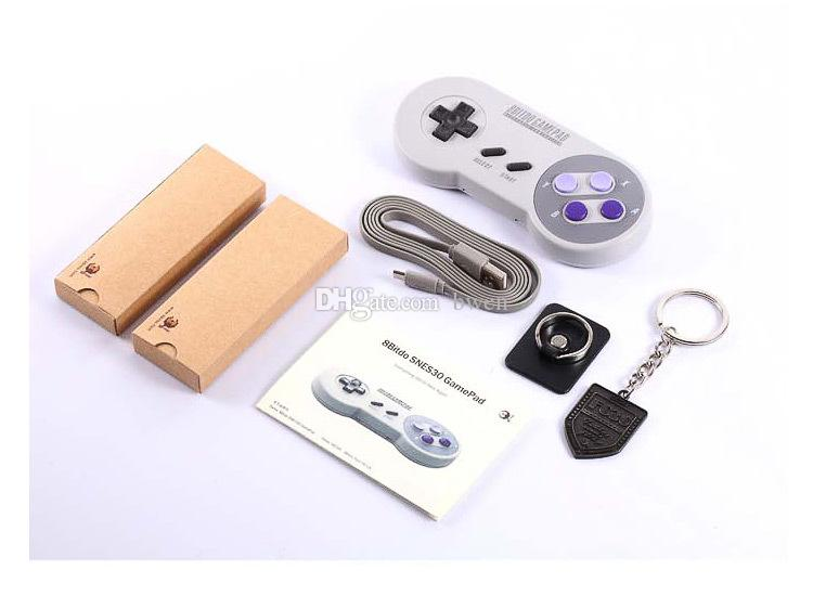 New 8bitdo SFC30 PRO Wireless Bluetooth SNES30 Controller usb for ios Android gamepad tablet PC Mac Linux support Switch gamepad