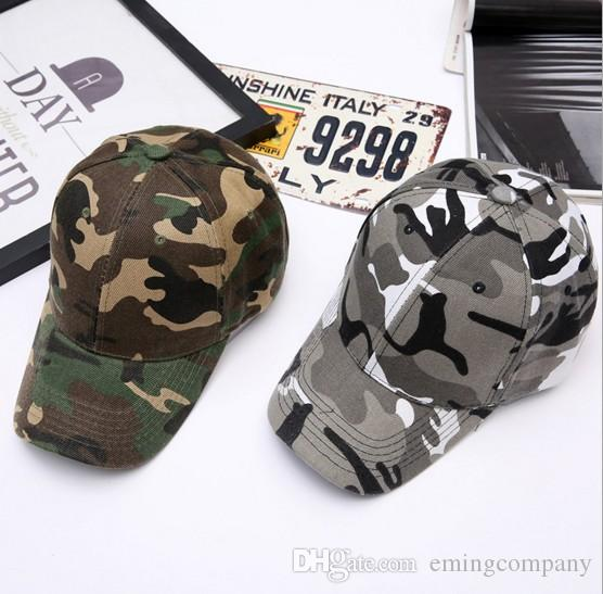 e8bde968 Popular Cotton Curved Camouflage Baseball Caps For Adults Mens Womens  Adjustable Strapback Military Hats Man Woman Spring Summer Sun Visor