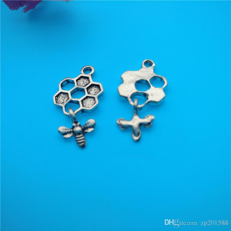 Mélangés Charms argent tibétain Bee Hummingbird Pendentifs Bijoux Bracelet Collier Faire bijoux à la mode populaires Résultats Accessoires de bricolage V164