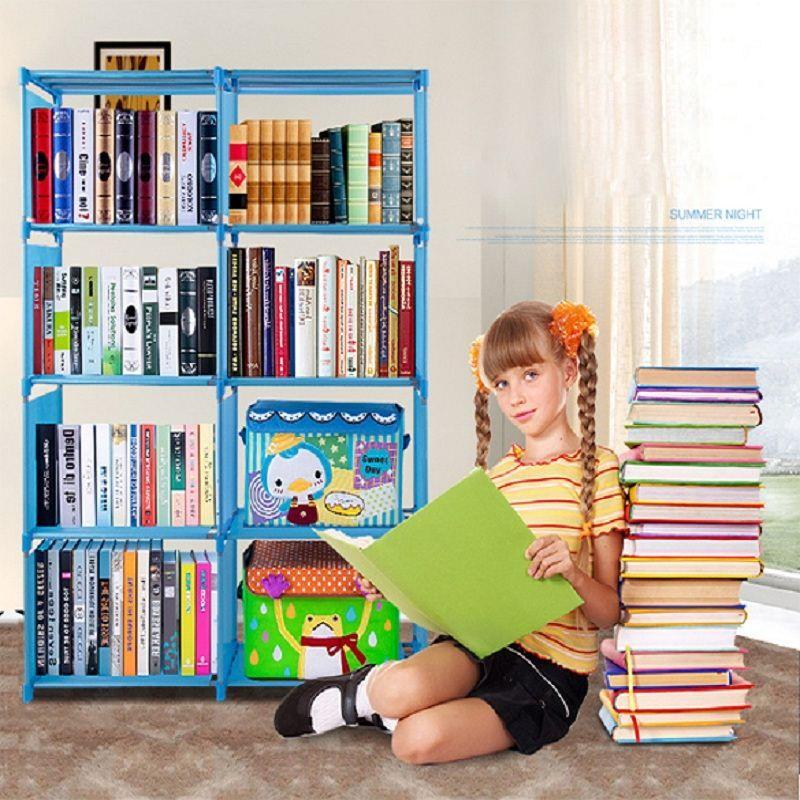 2019 Homestyle Bookcase 4 Shelf Storage Bookshelf