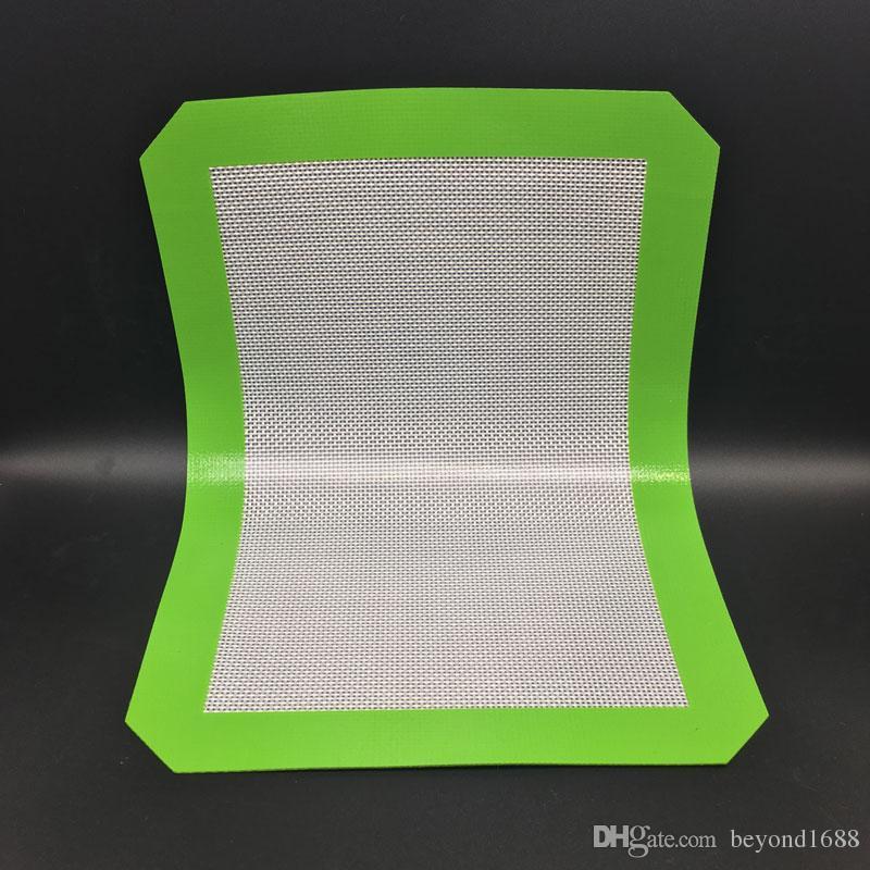 비 스틱 실리콘 베이킹 매트 30cm x 21cm 11.81 x 8.27 인치 실리콘 베이킹 매트 DAB 오일 왁스 빵 스핀 드라이 왁스 패드
