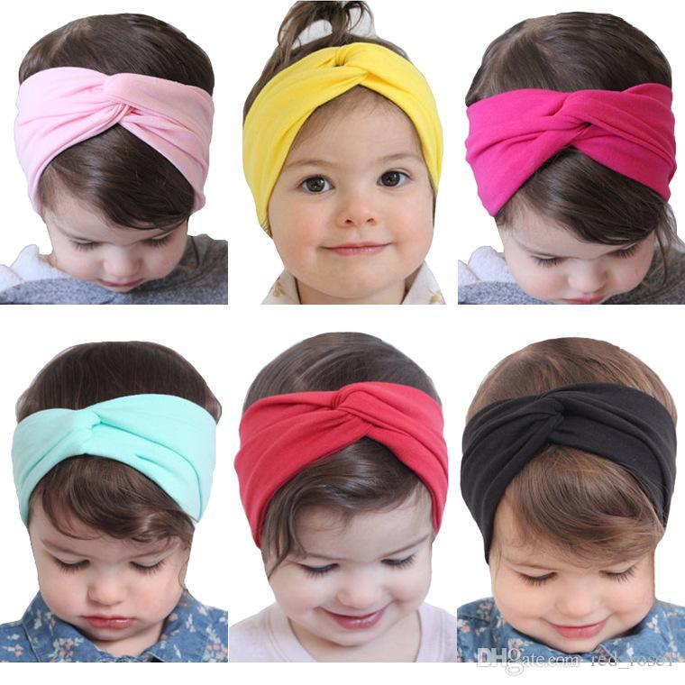 11 цветные детские волосы полоса волос новая прекрасная девочка упругие силы хлопчатобумажные дети бантики эластичные аксессуары для волос аксессуары для волос / прямые завода