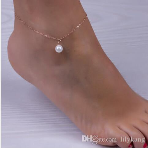 2016 New arrival plated pulseras hot simple ankle chain chaine cheville femme woman anklets foot jewelry leg jewelry ankle bracelets anklets