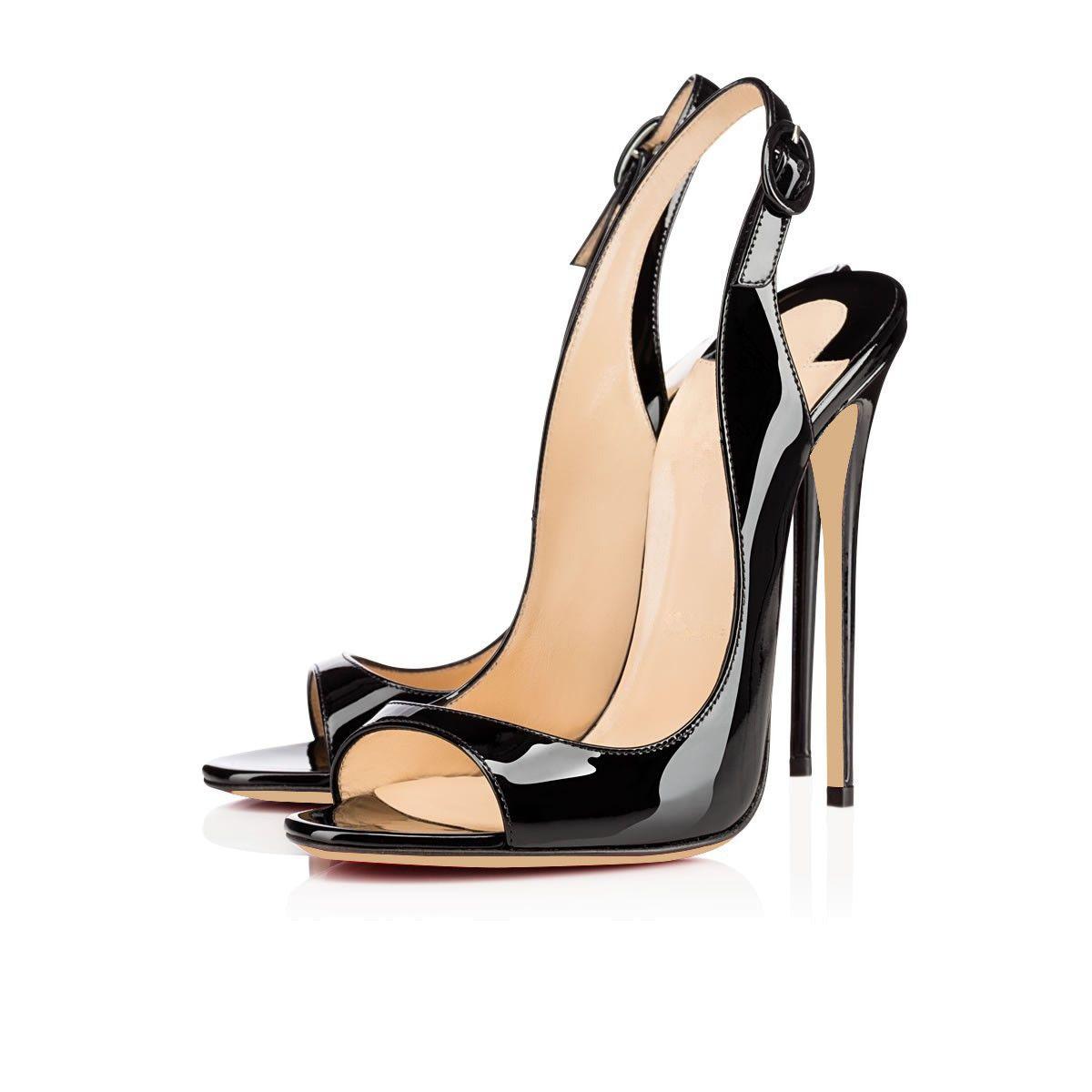 Karmran handmade new sexy moda feminina bissima 120mm dedo do pé aberto slingback sandálias de salto alto sapatos de festa de escritório de moda noite sandálias