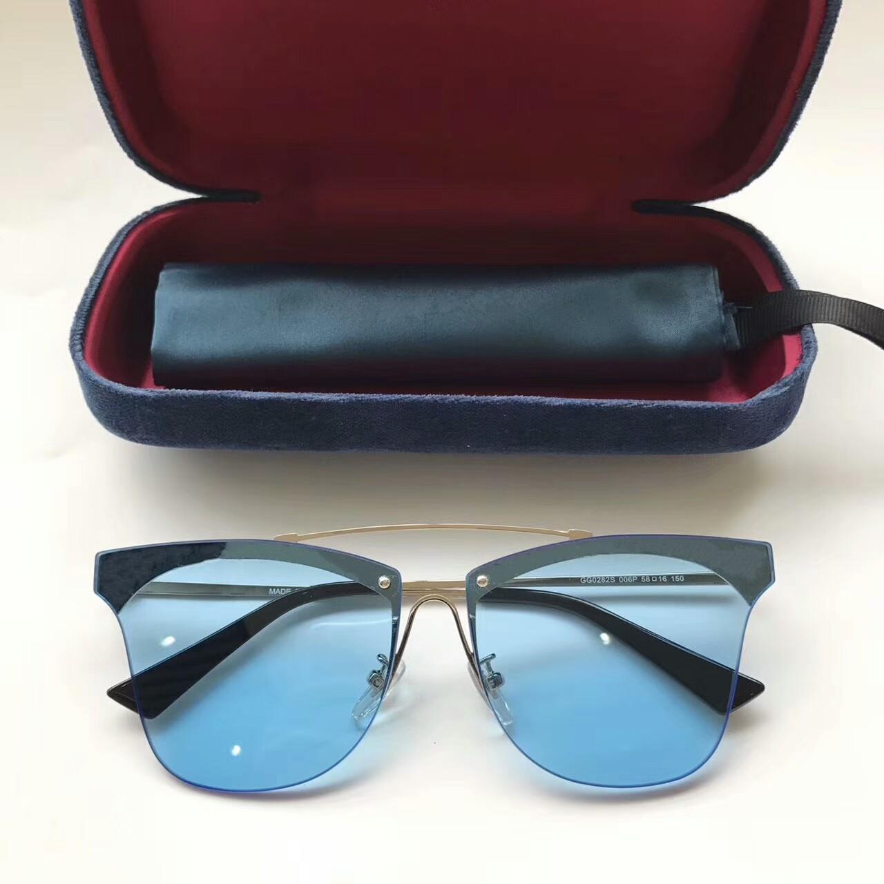 marque lunettes de soleil designer G0282S lunettes de soleil pour femmes femmes lunettes de soleil femmes marque designer revêtement UV protection été hommes lunettes de soleil