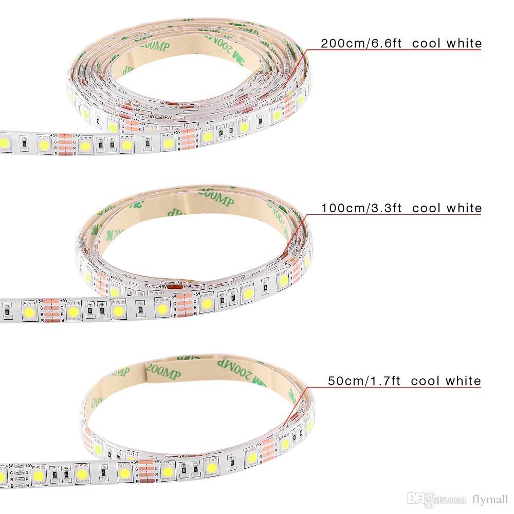 50CM 1M 2M USB LED Strip Light 5V 5050 3528 SMD IP65 Waterproof RGB Warm / Cool White Flexible TV Background Lighting Strip Christmas Light