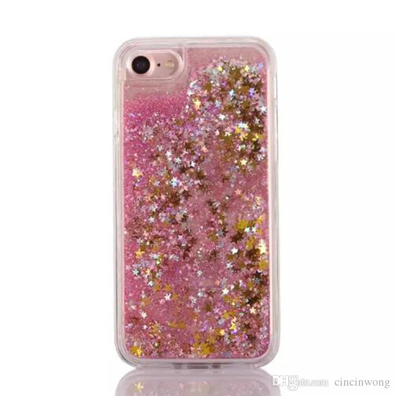 Quicksand Dynamic Liquid TPU Weiche Fall Für Iphone6 ​​6 plus 7 7 plus Sand Glitter Stern Bling Diamant Stein Abdeckung Haut