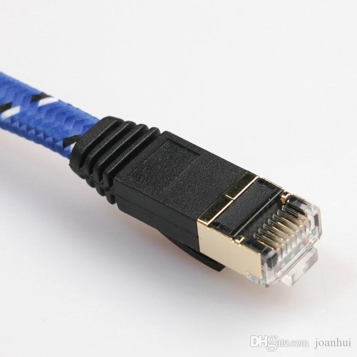 10M CAT7 إيثرنت شبكة الإنترنت التصحيح LAN شقة كابل الحبل لأجهزة الكمبيوتر المحمول