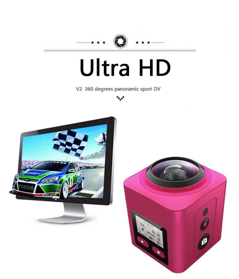 WIFI 360 panoramic camera HDKing V2 360 degree panoramic wifi vr waterproof mini full hd sport dv action camera