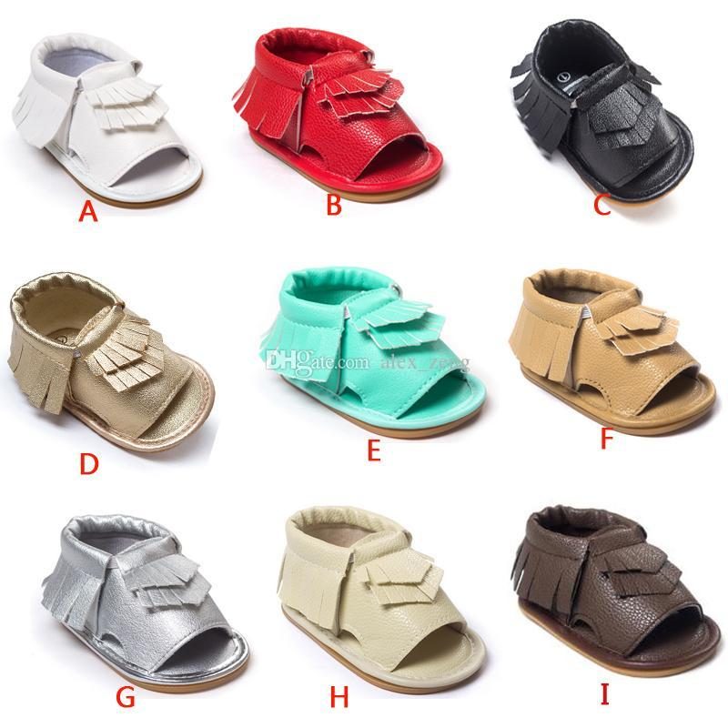 2016 New Baby moccasins first walker shoes Tassels sandlas baby shoes soft soled shoes soled sandals