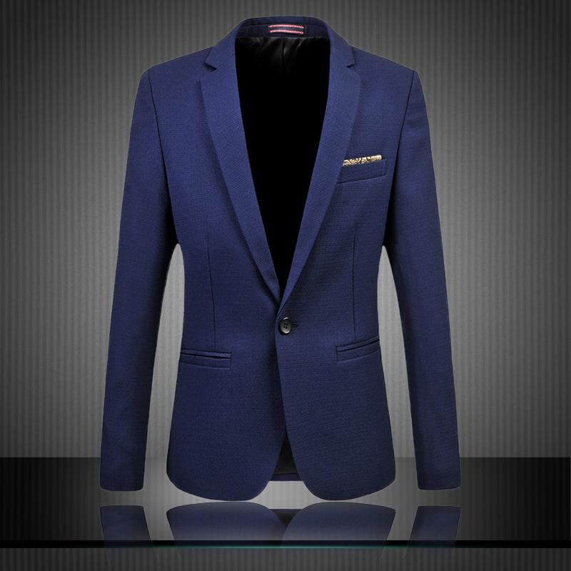 2018 Wholesale Men Blazer Designs 2017 New Brand Solid Color Casual Jacket Men Suit Jacket ...
