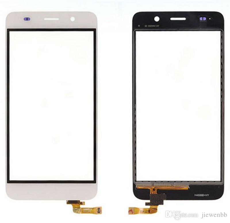 """/High Quality 5.0"""" For Huawei Honor 4A Y6 Touch Screen Digitizer Sensor Front Glass Lens Panel Black White Tracking"""