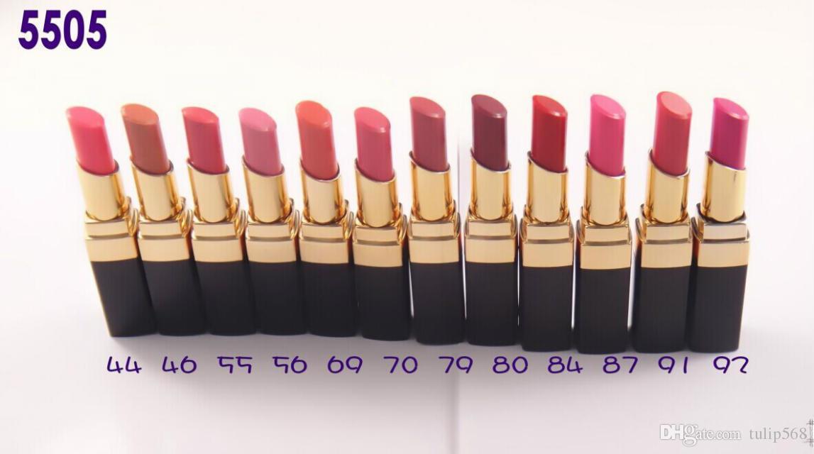 12 pçs / lote nova maquiagem da marca cosméticos maquiagem rouge batom lip stick 12 cor 3g