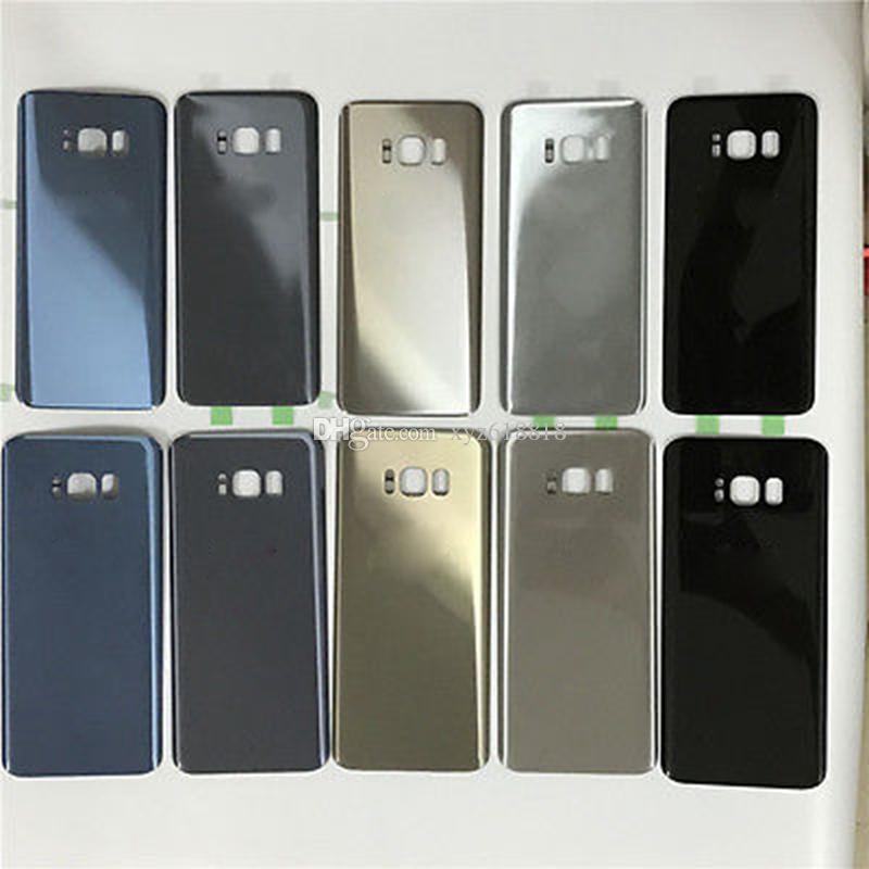 Orijinal Yeni Yedek Pil Kapı Konut Kapak Kılıf Samsung Galaxy S8 G950 G950P S8 Artı Yapışkan Sticker Ile G955P Paneli Kabuk