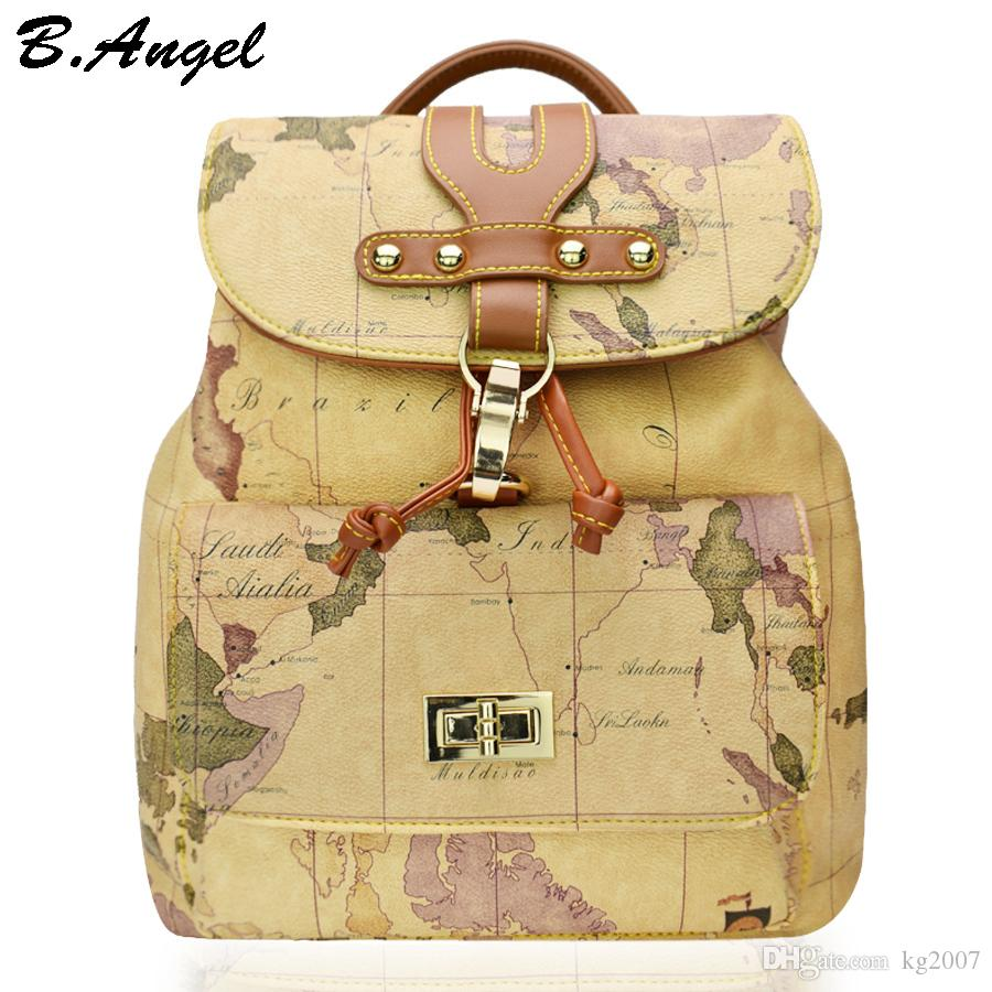 High quality women and men world map backpack fashion backpack high quality women and men world map backpack fashion backpack women retro leather backpack brand design school backpack hc z 967 backpacks for boys hype gumiabroncs