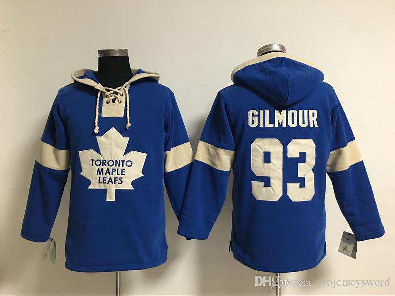 Youth Hockey Jersey Cheap, Toronto Maple Leafs Hoodie #17 Wendel Clark #93 Doug Gilmour 100% Stitched Embroidery Logos Hoodies Sweatshirts