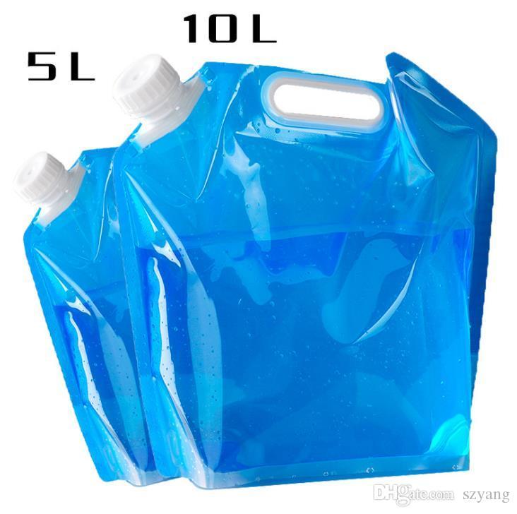 5L / 10L Outdoor Klapp Faltbare Faltbare Trinkwasser Tasche Auto Wasserträger Container für Outdoor Camping Wandern Picknick BBQ