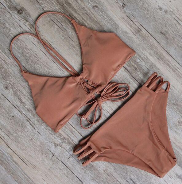 nuovo Swimwear caldo della fasciatura del bikini sexy della spiaggia dello Swimwear del costume da bagno delle donne costume da bagno brasiliano Bikini