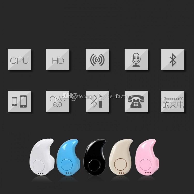 S530 Mini Wireless Small Bluetooth Earphone Stereo Light Stealth Headphone Headset Earbud With Mic Ultra-small Hidden With box fast shipping
