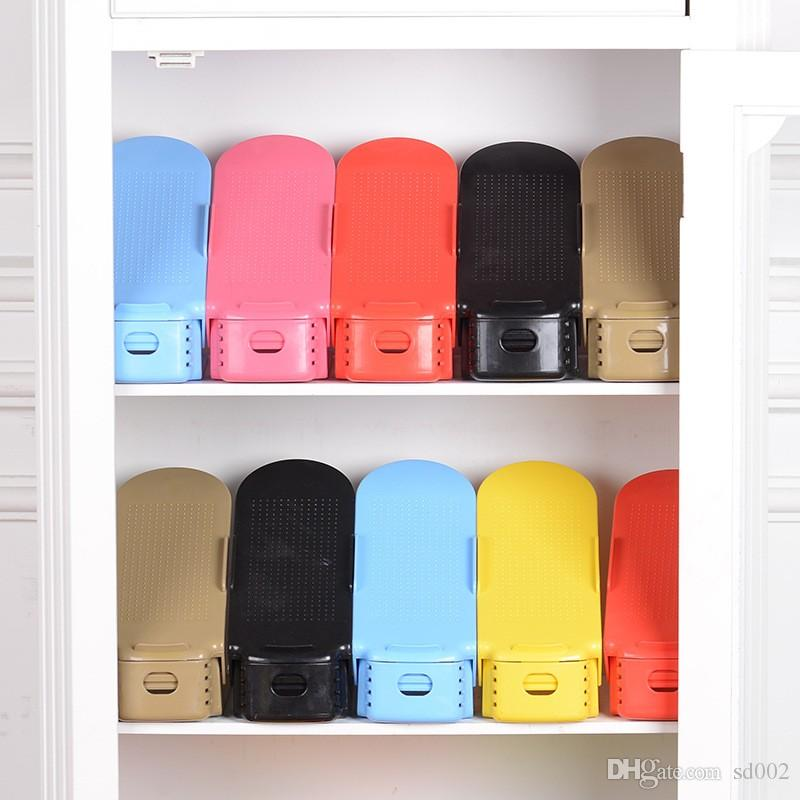 Incroyable 2018 Portable Adjustable Shoe Rack Organizer Plastic Pp 2 Layers Storage  Holder For Home Furniture Shoes Slots Hanger Top Quality 1 8yy By From  Sd002, ...