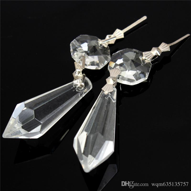 Clear Chandelier Glass Crystals Lamp Prisms Part Hanging Drops Pendants 38mm Lighting Accessories Gift W005