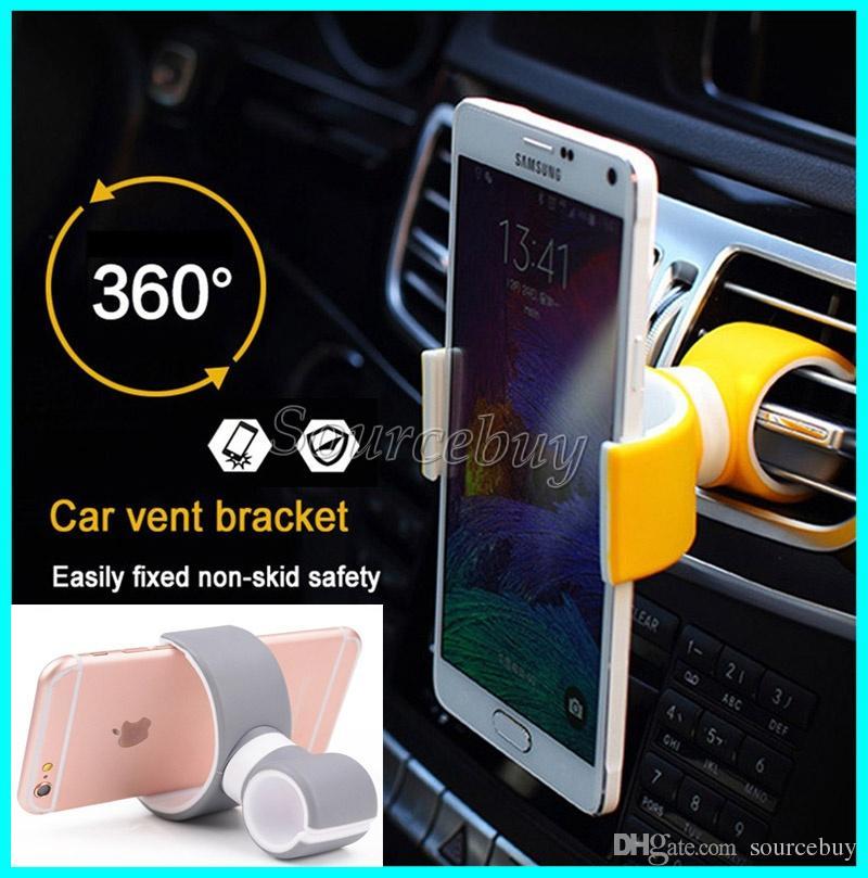 Lucky Lock Double C Design 360 Grad Drehung Auto Vent Mount Handyhalter Halterung Steht Für Iphone Samsung Smartphone Kostenloser Versand