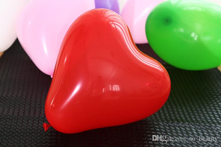 Latex Heart Shaped Balloon Colors Pearl Balloons Wedding Party Happy Birthday Anniversary Decor 10 inch new