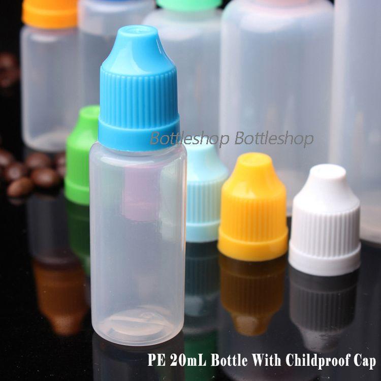 China Fornecimento de LDPE E líquido E Cigarro Conta-gotas Garrafa Com Cap Para Crianças e Longa e Fina Ponta 20 ml Garrafas De Óleo Vazias Em Estoque