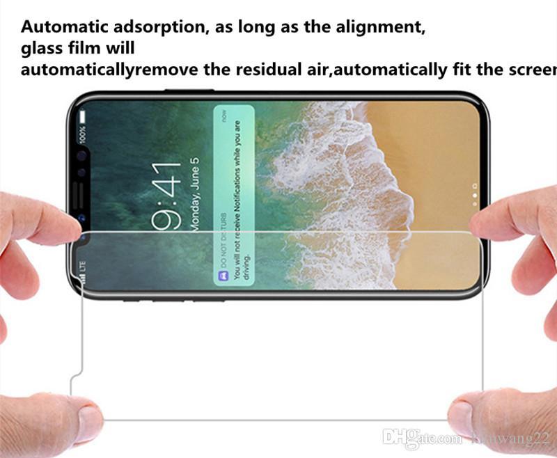 لفون 8 حامي الشاشة الزجاج المقسى ل iPhone8 حامي الهاتف 9H صلابة حامي الشاشة مع حزمة البيع بالتجزئة