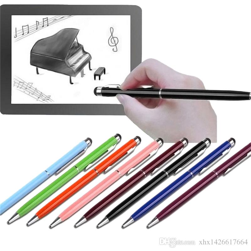 2 IN 1 Capacitive Touch Screen Stylus Pen Multi Ballpoint Pen For IPad IPhone Samsung Tablet