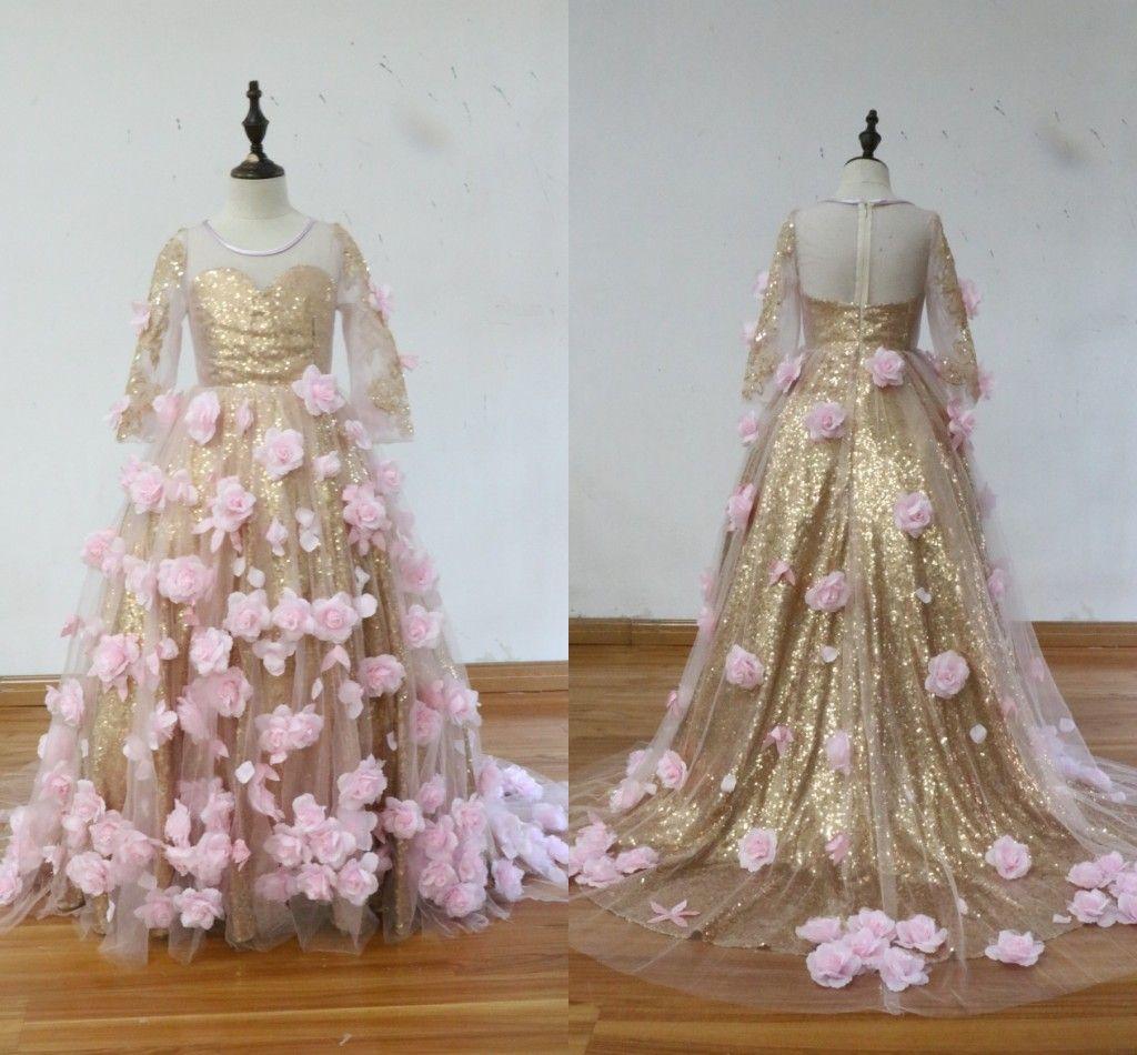 Pink Flowers Dresses