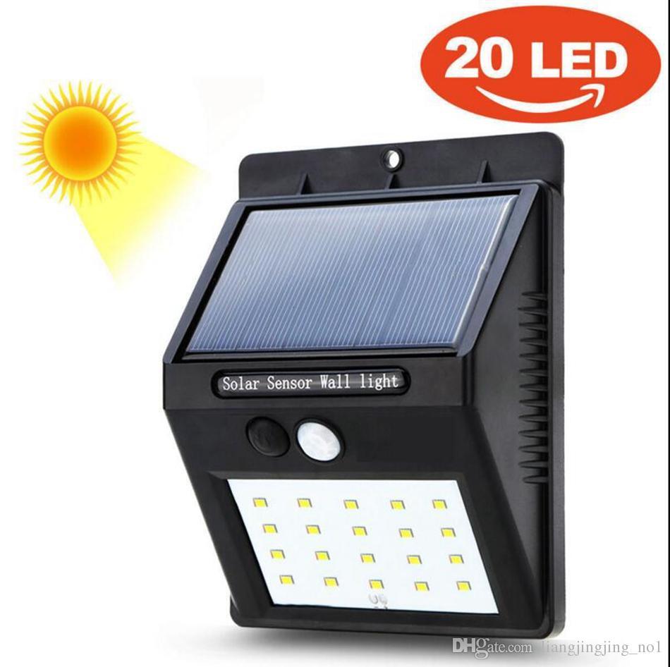 20 LED 태양 광 발전 스포트 라이트 모션 센서 야외 정원 벽 등 보안 램프 거터 OOA3130
