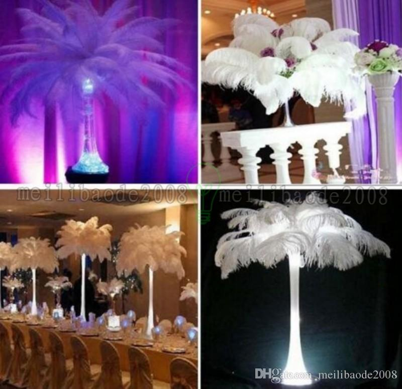 14-16 Inch White Ostrich Feather Plume Craft Supplies Wedding Party Table Centerpieces Decoration MYY